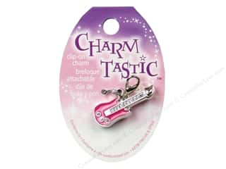 Charms and Pendants New: Janlynn Charmtastic Clip-On Charm Guitar (3 pieces)