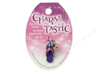 Beach & Nautical Beading & Jewelry Making Supplies: Janlynn Charmtastic Clip-On Charm Flip Flop (3 pieces)