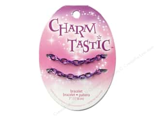 Bracelets inches: Janlynn Charmtastic Charm Bracelet Purple (3 pieces)