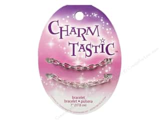 Clearance Beading & Jewelry Making Supplies: Janlynn Charmtastic Charm Bracelet Silver (3 pieces)