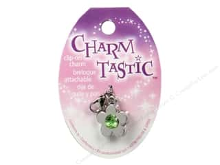 Green: Janlynn Charmtastic Clip-On Charm August Peridot (3 pieces)