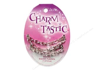 Bracelets inches: Janlynn Charmtastic Charm Necklace Silver (3 pieces)