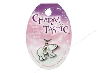 Charms and Pendants Black: Janlynn Charmtastic Clip-On Charm Polar Bear (3 pieces)