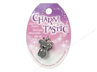 Charms and Pendants inches: Janlynn Charmtastic Clip-On Charm Koala (3 pieces)