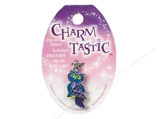 Charms and Pendants Black: Janlynn Charmtastic Clip-On Charm Owl (3 pieces)
