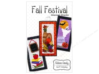 Patterns Halloween: Ribbon Candy Quilt Fall Festival Skinny Pattern