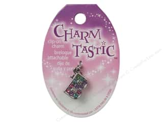 ABC & 123 Beading & Jewelry Making Supplies: Janlynn Charmtastic Clip-On Charm Letter B (3 pieces)