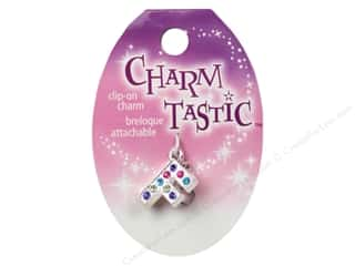 ABC & 123 Beading & Jewelry Making Supplies: Janlynn Charmtastic Clip-On Charm Letter F (3 pieces)