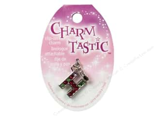 ABC & 123 Beading & Jewelry Making Supplies: Janlynn Charmtastic Clip-On Charm Letter H (3 pieces)