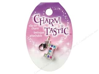 ABC & 123 Beading & Jewelry Making Supplies: Janlynn Charmtastic Clip-On Charm Letter I (3 pieces)