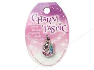 ABC & 123 Beading & Jewelry Making Supplies: Janlynn Charmtastic Clip-On Charm Letter J (3 pieces)