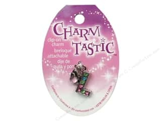 ABC & 123 Beading & Jewelry Making Supplies: Janlynn Charmtastic Clip-On Charm Letter L (3 pieces)