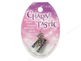 ABC & 123 Beading & Jewelry Making Supplies: Janlynn Charmtastic Clip-On Charm Letter M (3 pieces)