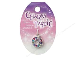 Beading & Jewelry Making Supplies ABC & 123: Janlynn Charmtastic Clip-On Charm Letter O (3 pieces)