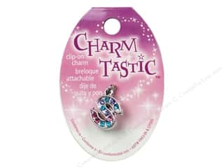 ABC & 123 Beading & Jewelry Making Supplies: Janlynn Charmtastic Clip-On Charm Letter S (3 pieces)