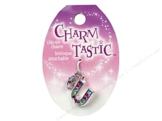Charms and Pendants ABC & 123: Janlynn Charmtastic Clip-On Charm Letter U (3 pieces)