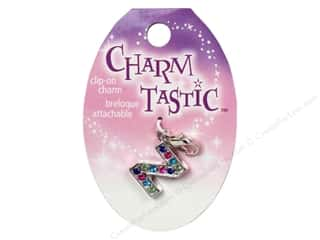 ABC & 123 Beading & Jewelry Making Supplies: Janlynn Charmtastic Clip-On Charm Letter Z (3 pieces)