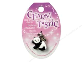 Charms and Pendants Black: Janlynn Charmtastic Clip-On Charm Panda (3 pieces)