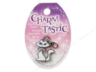Charms Jewelry Making: Janlynn Charmtastic Clip-On Charm Cat (3 pieces)