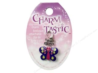 Craft & Hobbies Charms: JaJanlynn Charmtastic Clip-On Charm Butterfly (3 pieces)