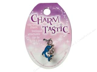 Beach & Nautical Beading & Jewelry Making Supplies: Janlynn Charmtastic Clip-On Charm Dolphin (3 pieces)