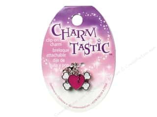 Charms Hearts: Janlynn Charmtastic Clip-On Charm Heart Skull (3 pieces)