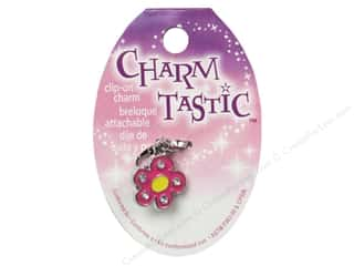 Flowers / Blossoms Beading & Jewelry Making Supplies: Janlynn Charmtastic Clip-On Charm Flower (3 pieces)