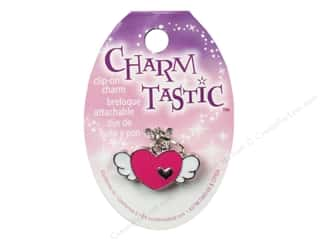 Charms Hearts: Janlynn Charmtastic Clip-On Charm Winged Heart (3 pieces)