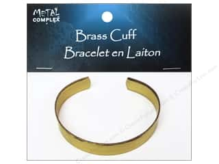 Bracelets inches: Metal Complex Bracelet Cuff Flat Band 3/8 in. Brass