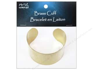 Bracelets inches: Metal Complex Bracelet Cuff Flat Band 1 1/2 in. Brass