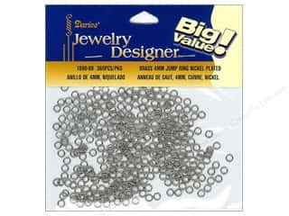 Darice Brass Rings: Darice Jewelry Designer Jump Rings 4mm Nickel Plated Brass 360pc