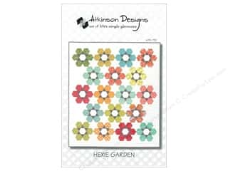 Quilt Woman.com Fat Quarter / Jelly Roll / Charm / Cake Patterns: Atkinson Designs Hexie Garden Pattern