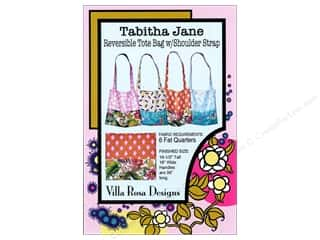 American Quilter's Society Tote Bags / Purses Patterns: Villa Rosa Designs Tabitha Jane Reversible Tote Pattern