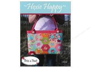 Happy Lines Gifts Tote Bag: This & That Hexie Happy Pattern