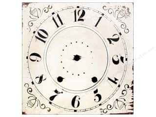 Melissa Frances Decor Clock Face Wall Hang Sq 14""