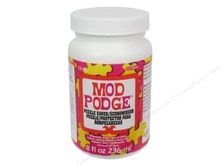 Plaid Mod Podge Puzzle Saver 8oz