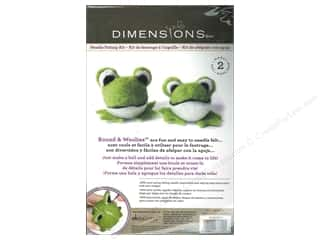 Felt Projects & Kits: Dimensions Needle Felting Kit Round & Woolies Frogs