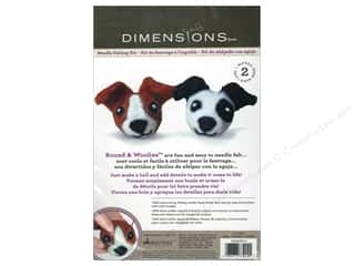 Projects & Kits Clearance Crafts: Dimensions Needle Felting Kit Round & Woolies Dogs
