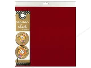 Canvas Bazzill: Canvas Corp Sheet 12x12 Canvas Red (10 piece)