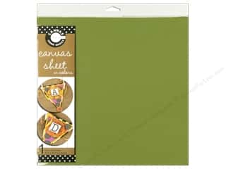 Fabric Canvas Corp Sheet 12 x 12 in: Canvas Corp Canvas Sheet 12 x 12 in. Lime Green (10 pieces)