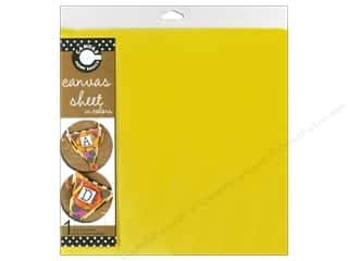 Fabric Canvas Corp Sheet 12 x 12 in: Canvas Corp Burlap Sheet 12 x 12 in. Yellow (10 pieces)