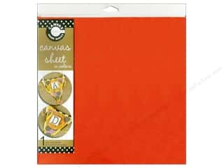 Canvas Bazzill: Canvas Corp Sheet 12x12 Canvas Orange (10 piece)