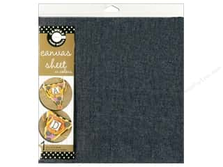 Canvas Bazzill: Canvas Corp Sheet 12x12 Canvas Denim (10 piece)