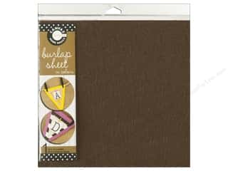 Fabric Canvas Corp Sheet 12 x 12 in: Canvas Corp Burlap Sheet 12 x 12 in. Chocolate (10 pieces)