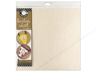 Canvas Corp Burlap Sheet 12 x 12 in. Ivory (10 piece)