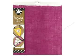 Fabric Canvas Corp Sheet 12 x 12 in: Canvas Corp Burlap Sheet 12 x 12 in. Hot Pink (10 pieces)