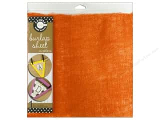 Fabric Canvas Corp Sheet 12 x 12 in: Canvas Corp Burlap Sheet 12 x 12 in. Orange (10 pieces)