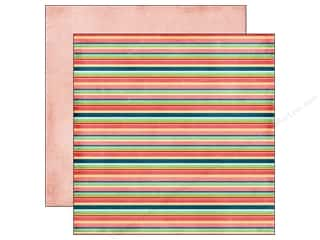 Back To School Echo Park 12 x 12 in. Paper: Echo Park 12 x 12 in. Paper Beautiful Life Collection Stripes (25 pieces)