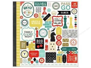 Carta Bella Caption Stickers / Frame Stickers: Carta Bella Sticker 12 x 12 in. Well Played Element (15 pieces)