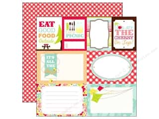 Christmas Echo Park 12 x 12 in. Paper: Echo Park 12 x 12 in. Paper Let's Picnic Collection Journaling Cards (15 pieces)